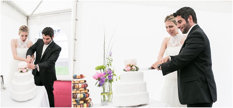 Hochzeitstorte-Anschnitt