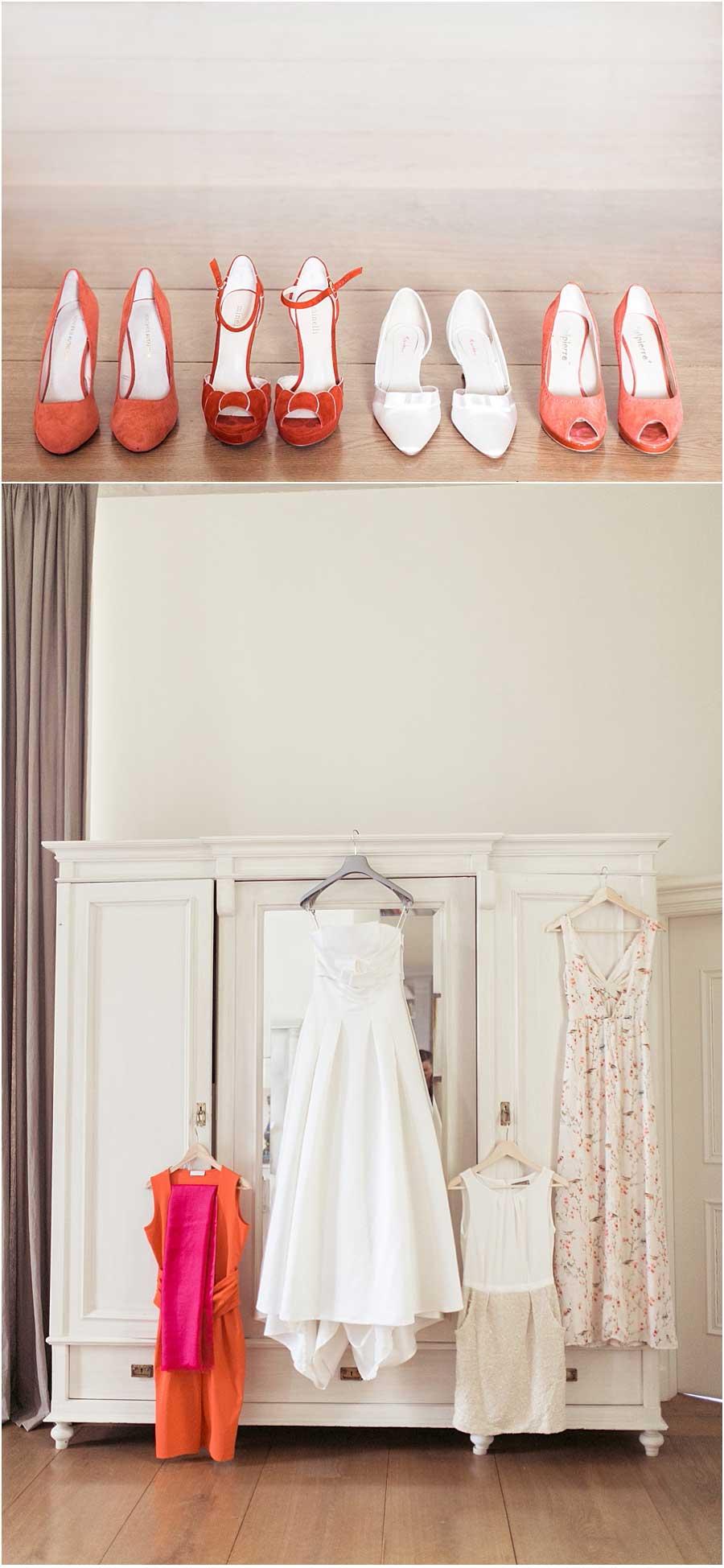 Brautschuhe-Brautkleid