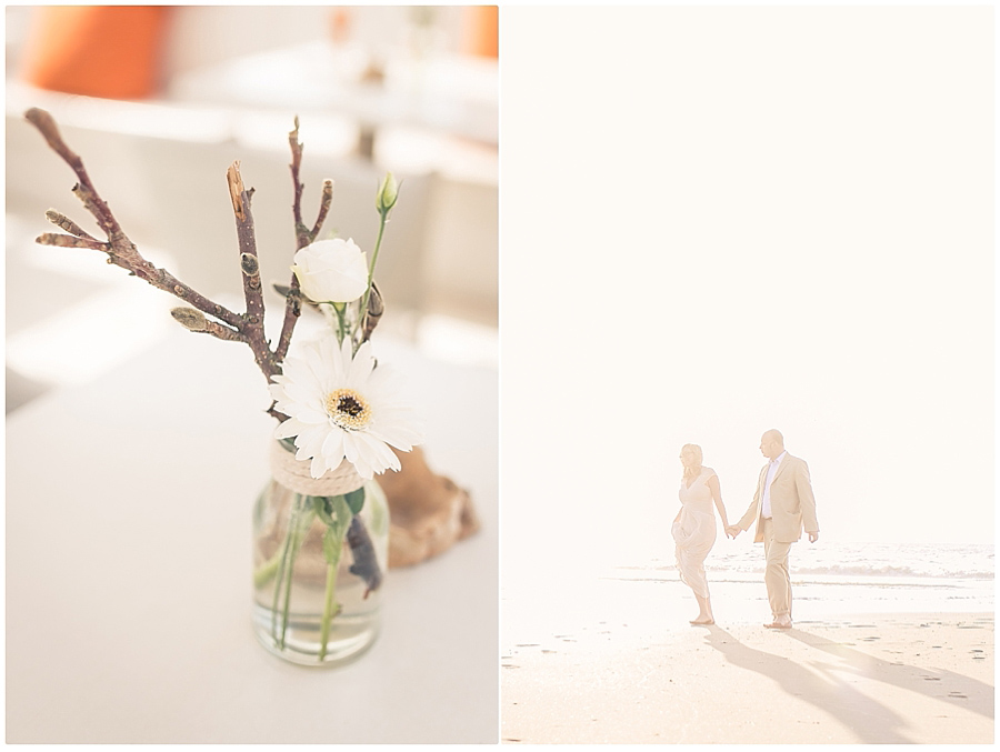 strandspaziergang-Brautpaar
