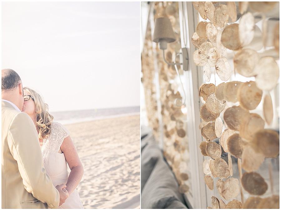 Brautpaar-Strandfotos