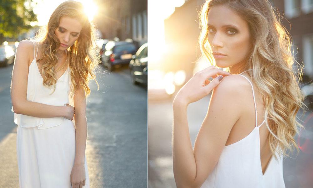 Portrait-Model-gegenlicht